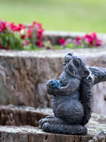 Laughing squirl statue